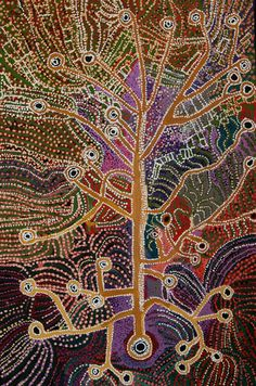 Hector Tjupuru Burton, Untitled, Synthetic polymer paint on linen, 151 x 100 cm. Tjala Arts, South Australia; Alcaston Gallery, Melbourne. Intentionally painted without reference to sacred subject matter (Tjukurrpa, or 'law'), Burton's canvas reflects a concordance forged by elder lawmen of the Tjala Arts Center intended to limit sensitive areas of aboriginal knowledge to those viewers who have been ritually initiated.