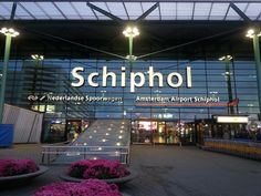 Amsterdam Airport Schiphol (AMS) in Schiphol, Noord-Holland This is where we arrived! KLM flight was just ok. A bit crowded and tight seating