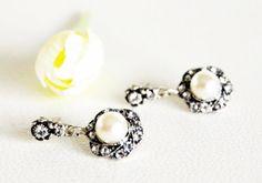 art deco clear crystal swarovski pearl rhinestone by sestras, $31.90