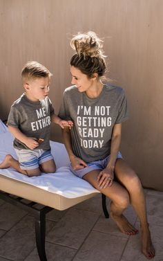 I'm not getting ready today shirts, matching shirts, matching with littles, mom and me tees, toddler shirts, ILY Couture * affiliate link