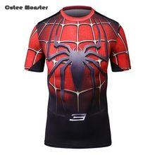 Camiseta homens 2016 verão Spiderman Superman collants de compressão a t-shirt de manga curta respirável de secagem rápida camisa europa tamanho M-XXL //Price: $US $16.99 & FREE Shipping //    #capitainamerica #capitãoamerica #marvel #avenger
