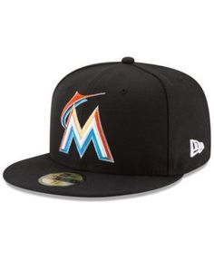 New Era Miami Marlins Game of Thrones 59FIFTY Fitted Cap - Black 7 1/8