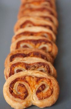 Cheddar Marmite Palmiers. notes: sub real cheese.