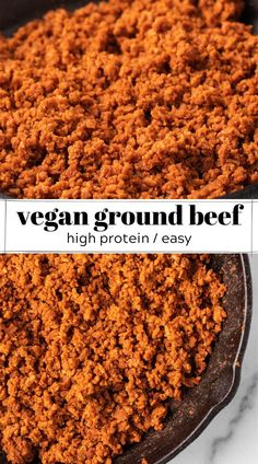 Protein Substitutes For Meat, Vegan Protein Sources, High Protein Vegetarian Recipes, Delicious Vegan Recipes, Meatless Recipes, Vegan Foods, Vegan Meals, Healthy Recipes, Vegan Meat Recipe