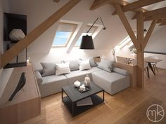 No space for a full-on library or study in your home? No problem. Here we share a few simple ways to create a stylish and comfortable reading area in your house. Attic Bedroom Designs, Attic Design, Attic Rooms, Interior Design Living Room, Living Room Designs, Deco Studio, Casa Loft, My Ideal Home, Loft Room