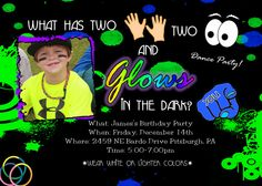 Glow in the DARK Invitation BIRTHDAY Dance Party Invite NEON Printable Photo Personalized Girls, Boys, Teens, Kids or Adults Custom. $13.98, via Etsy. 13th Birthday Parties, Kid Parties, Teen Birthday, Birthday Photos, Birthday Ideas, Neon Party, Party Party, Party Time, Photo Birthday Invitations