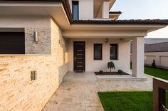 CUBUS Építésziroda Family House Plans, Modern House Plans, Small House Design, Modern House Design, Double Storey House Plans, House Plans South Africa, Architectural House Plans, Mediterranean Homes, Home Design Plans