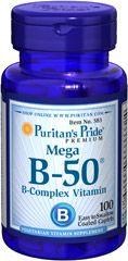 Vitamin B-50® Complex 100 Tablets | B-Complex Vitamins Supplements | Puritan's Pride