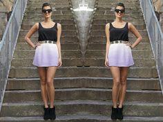 DIY dip dye mini skirt