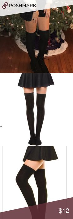 THIGH HIGH KNEE SOCKS Now trending for spring and the rest of this cold weather.  Really comfortable poly and spandex socks . A very nice and soft feel to the socks. If you want sophistication and class try these tights. YELETTE Accessories Hosiery & Socks