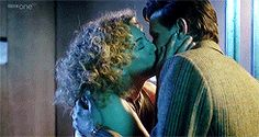 The 11th Doctor kissing River Song