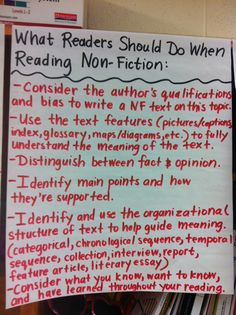 What you should do to read NF anchor chart