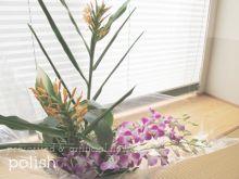 $●ポリッシュ●ホビーのまち静岡,お花のチカラで自分磨きのブログ【アーティフィシャルフラワー・プリザーブドフラワー教室】-パリスタイルアレンジ