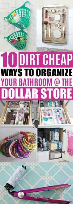 Bathroom Organization Ideas Dollar Store
