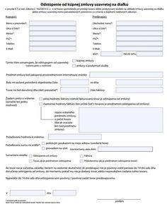 Formuláre - odstúpenie od zmluvy, reklamačný protokol