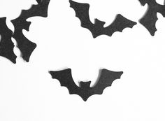 Halloween bats table decoration, black bats for Halloween, Halloween wedding table decoration, bats decoration by KraziCrochet on Etsy