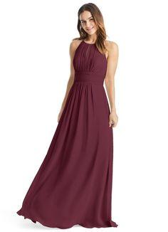 00570b249ee AZAZIE BONNIE. Bonnie is a floor-length chiffon bridesmaid dress in an A-