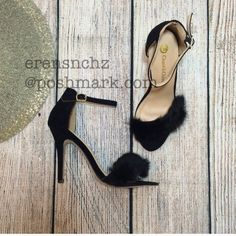 Faux Fur Black Heel 9  Faux Fur Black Heel size 9. Price will be dropped if interested. Ships next day! Shoes Heels