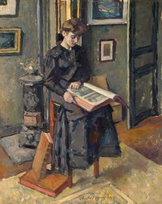 Girl Reading a Book (1906).Charles Francois ProsperGuérin(French, 1875-1939.Oil on canvas.Hermitage, St. Petersburg.