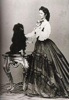 Kaiserin Elisabeth von Österreich mit Hund - 1864