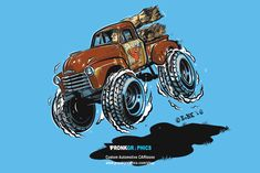 Chevy 3100 Hotrod Cartoon | Pronk Graphics | Website Design/Development… Chevy Hot Rod, 4x4 Wheels, Chevy 3100, Caricature, Car Drawings, Cool Cartoons, Design Development, Hot Rods, Classic Cars