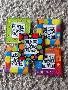 There is a link to a site where you can create your own QR codes.  The example in the picture is QR codes for sight words.