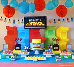 "Photo 1 of 35: Arcade Games / Birthday ""Arcade Themed 6th Birthday Party"""