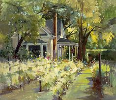 """Award of Excellence $500 cash award funded by OPA """"Summer Day"""" By Michele Usibelli 22"""" x 25"""" $3,200"""