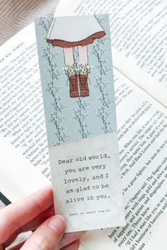 Who doesn't love the quirky redhead from our childhood– Anne of Green Gables is one of the most beloved children's classics and has even been adapted into a successful TV series, Anne with an E. If you love Anne's inspirational quotes, this printable bookmark is perfect for you. You can download it and many more from our shop. Click to browse or save for later! | book quotes - bookmarks with quotes - book lovers gift