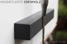 Messerblöcke - Messer Magnetleiste Ebenholz Natur - ein Designerstück von chopnhustle bei DaWanda