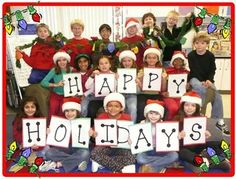 Class Christmas Card.  Love this idea!! Send to other grades in the school, principal, secretaries, etc.