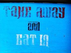 Hand stencilled Indian restaurant signage via @katemelsom