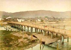 「京都 ・三条大橋」手彩色古写真