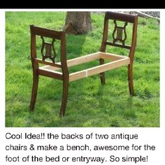 Bench out of chairs