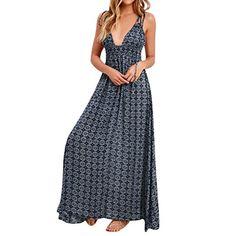 6413b81651bd Abbigliamento Donna Estivo ASHOP Vestito Vestitini Abito Vestiti Casual Donna  Estate Femminile Boho Casual Lungo Maxi