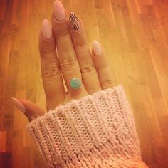 Nails, Nailed It, almond nails, pretty nails, gel nails, Aztec pattern pink nails