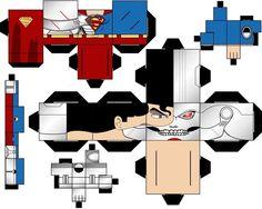 Cubee Craft Cyborg Superman DC Super Heroes by handita2006 on DeviantArt