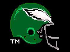 8- Bit Eagles helmet
