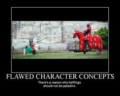 Flawed character concepts