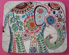 Mouse Pad mousepad / Mat - Rectangle - Pretty Elephant 2