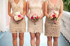 Champagne, pale pink and peach wedding  #wedding #weddingflowers #Botanica