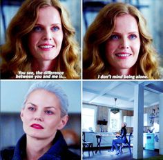 """The difference between you and me is I don't mind being alone"" - Zelena and Emma #OnceUponATime"