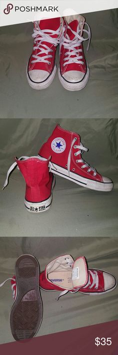 All Star Converse Red Converse. Used a few times. However they are still in good condition. You can also bundle any other iteams and Im open for any offers. Converse Shoes Sneakers
