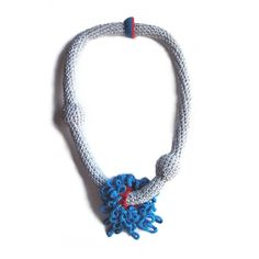 photo of a crochet necklace made by Teresa Degleri