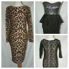 Bundled Sexy Clubbing Evening KIM K Style Dresses Sexy 3 piece dress lot. All dresses are in very good pre-owned condition.  Really Chic Kim Kardashian inspired hourglass figure dresses. cookie couture, symphony, venus Dresses