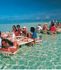 best. restaurant. ever. Bora Bora.