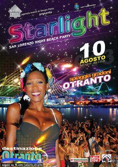 domani sera, 10 agosto start ore 22.00... Starlight, San Lorenzo Night Beach Party | Spiaggetta Madonna dell'Alto Mare... Borderline Cafè #Otranto | un evento da non perdere!!!