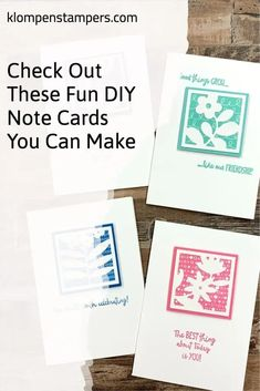 I was excited to see DIY Note Cards I could make in minutes. The stamp set and dies are unique. I've got all the tips and tricks you need to make these cards like a pro. Learn more at www.klompenstampers.com I've got the measurements and video for you.