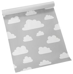 Brand: Farg & Form Designer: Gunila Axen Size: Width: Length: The Moln (clouds) pattern was designed in 1967 by Gunila Axen. Today this iconic Washable Wallpaper, Fabric Wallpaper, Cloud Wallpaper, Kids Wallpaper, Wallpaper Ideas, Baby Bedroom, Kids Bedroom, Bedroom Ideas, Nursery Ideas