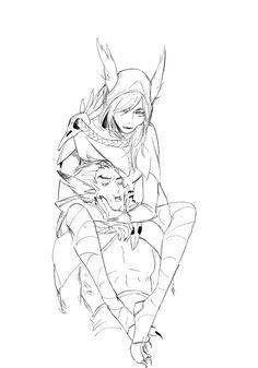 League Of Legends Characters, Lol League Of Legends, Xayah Lol, Xayah And Rakan, Paladin, Manga, Overwatch, Anime Art, Romantic